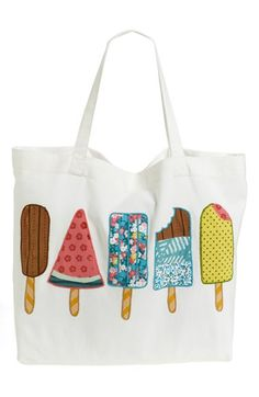 Free shipping and returns on Nordstrom at Home 'Ice Pops' Tote Bag at Nordstrom.com. Fancifully printed ice pops traced in colorful embroidery freshen a crisp cotton-canvas tote that's perfect for warm-weather outings.