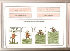 """Ejercicio para practicar el uso de la preposición """"hasta""""."""