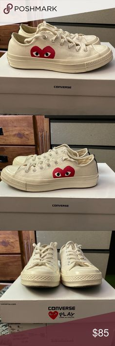 CDG converse. Still has plenty of life left to them. Depop