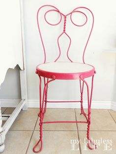 My Fabuless Life: Painting Metal: An Ice Cream Parlor Chair