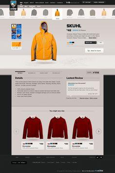 Kühl Consumer E-Commerce - Ben Cline // Creative Direction  Design #ecommerce #websitedesign #webdesign #detail #page #addtocart  #apparel #fashion #sports #winter