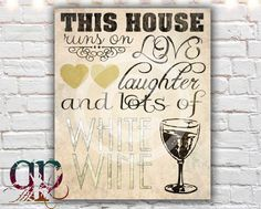 kitchen art kitchen decor wine decor by QuotablePrintables on Etsy, $5.00