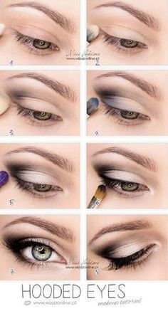 Best Eyeshadow Tutorials - Hooded Eyes - Easy Step by Step How To For Eye Shadow - Cool Makeup Tricks and Eye Makeup Tutorial With Instructions - Quick Ways to Do Smoky Eye, Natural Makeup, Looks for Day and Evening, Brown and Blue Eyes - Cool Ideas for Beginners and Teens http://diyprojectsforteens.com/best-eyeshadow-tutorials #makeupideasforbrowneyes