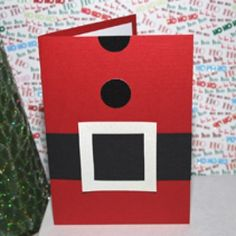 Santa Christmas Card from Nothing Makes Me Happier || 15 Christmas Cards Kids Can Make! || Letters from Santa Holiday Blog!