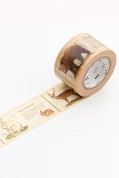 MT Japanese Masking Tape - Wide Rolls - Animal