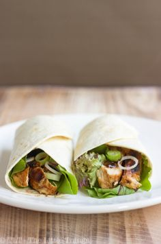 Hoisin Chicken Wraps by tlt-thelittlethings:  A healthy, speedy, go to version of Peking Duck Pancakes. Good hot or cold! #Hoisin #Chicken #Wraps #tlt_thelittlethings