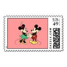 Vintage Mickey Mouse & Minnie Stamps
