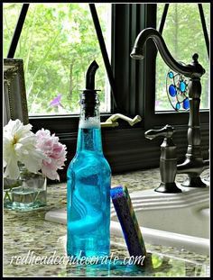 ball jar hand soap dispenser, repurposing upcycling, You may recall my Beer Bottle Dish Soap Dispenser which matches perfectly This is included in my post as well Dish Soap Dispenser, Soap Dispensers, Liquor Dispenser, Glass Dispenser, Beer Bottle Crafts, Beer Crafts, Bottles And Jars, Beer Bottles, Soda Bottles