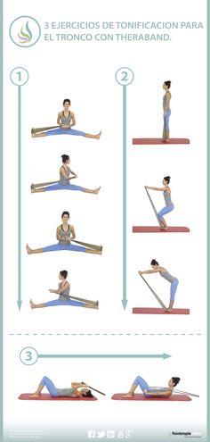 Tonifica tus músculos dorsales y abdominales mediante estos ejercicios con theraband | Fisioterapia Online Más