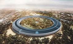 The planned development for the Apple Campus.