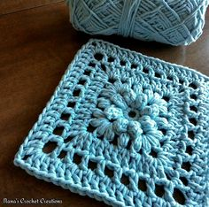 """Ravelry: Nana's """"Popcorn Posy Flower Square"""" pattern by Des Maunz"""