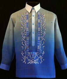 Monochromatic Royal Blue Barong Tagalog - Barongs R us Barong Wedding, Wedding Groom, Wedding Attire, Wedding Dresses, Filipiniana Dress, Filipiniana Wedding, Barong Tagalog, Philippines Fashion, Line Shopping