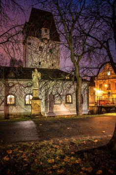 Night and the city by Petr Kubát on 500px  (Ceske Budejovice, South Bohemia)