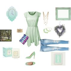 """""""Minty Fresh"""" by cpfmcg on Polyvore"""