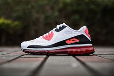 "Nike Air Max 90-2014 ""Infrared."" Full length air and the perforated upper!"