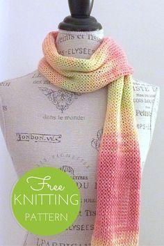 Sunrise Scarf Free Knitting Pattern