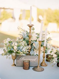 Vintage candle wedding decor: http://www.stylemepretty.com/2017/04/10/lush-organic-wedding/ Photography: Lauren Kinsey - https://www.laurenkinsey.com/
