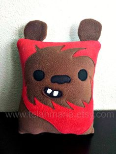 Ewok star wars pillow cushion gift by telahmarie on Etsy, $30.00