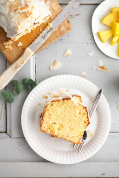 Ananas Kastenkuchen Rührteig Rezept mit Kokos - ein leckerer einfacher Kuchen - pineapple coconut pound cake