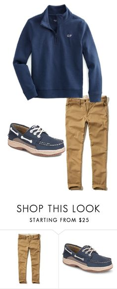 """Boys Preppy 22"" by tobyla ❤ liked on Polyvore featuring Hollister Co., men's fashion, menswear, preppy, vineyardvines, sperry and teenboys"