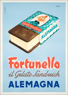 Ideas for design food poster art deco Vintage Italian Posters, Pub Vintage, Vintage Advertising Posters, Old Advertisements, Vintage Food Posters, Ice Cream Poster, Art Deco Posters, Poster Ads, Retro Ads