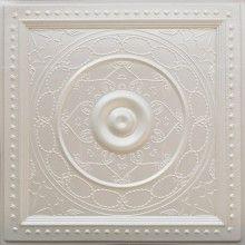 221 White Pearl Faux Tin Ceiling Tiles 24x24