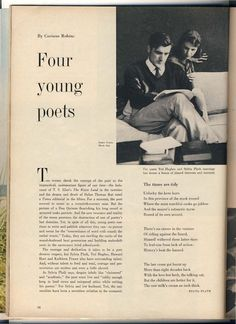 """Poet Sylvia Plath, as guest editor of Mademoiselle in """"Although horoscopes for our ultimate orbits aren't yet in, we Guest Eds. are counting on a favorable forecast with this send-off from Mlle., the star of the campus. Poetry Text, My Poetry, Poetry Quotes, Quotes Quotes, Sylvia Plath Poems, Best Poetry Books, Mademoiselle Magazine, Tragic Love Stories, American Poetry"""