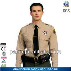 2014new design mens security uniform/Chinese biggest and most professional uniform factory $10~$25