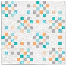 bitsy baby quilt. by rachelgriffith, via Flickr--cute idea for postage stamp squares http://www.psiquilt.com/search?updated-max=2014-01-26T10:41:00-05:00&max-results=5&start=15&by-date=false
