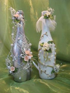 Wedding Bottles Decoration #weddings, #decorations, #art, #bottles, #events, #holidays, #pinsville