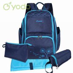4-PC Stylish Large Capacity Diaper Bag