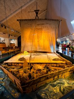 Kon-Tiki raft, Oslo, Norway This would be cool to make for Norway VBS!