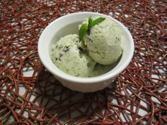 coconut, mint, choclate ice cream (dairy free)