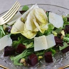 Tricolore Salad of Endive, Beet, and Arugula, Pantzaria Salata Allrecipes.com