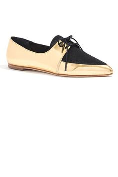 "The slimmed-down silhouette means that these work with narrow trousers and skirts, too. Loeffler Randall ""Beatriz"" oxfords, $295; madewell.com   - ELLE.com"