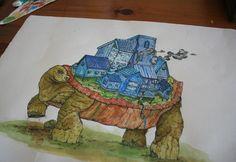 The Turtle by Dylan Wyndham Jones, via Behance Turtle, Behance, Illustrations, Painting, Art, Art Background, Turtles, Tortoise Turtle, Painting Art