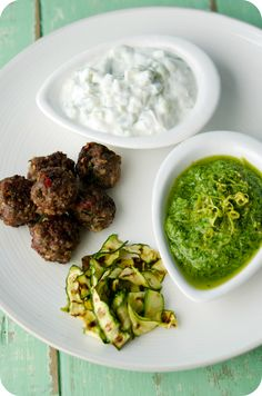 Ingredients for Indian Lamb Koftas posted by the lovely Ishay Govender-Ympa on her own website. She has advised I try making the coriander + lime pesto with walnuts as well! The actual recipe is as follows: http://www.foodandthefabulous.com/recipes/indian-lamb-koftas-for-summer-feasting/