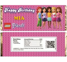 Lego Friends Themed Chocolate Bar Wrappers. Download Customize Print Lego Friends Chocolate Bar Wrappers Chocolate Bar Wraps 1.5 oz 43g