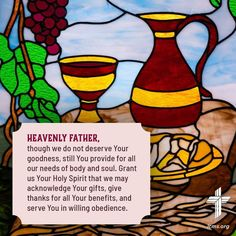 Lutheran, Body And Soul, Heavenly Father, Give Thanks, Holy Spirit, Thankful, Faith, Gifts, Holy Ghost