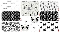 CRIB Bedding Spoonflower Bedding Black and White by Kimsa Cotton-2 - http://babyfur.net/crib-bedding-spoonflower-bedding-black-and-white-by-kimsa-cotton-2/
