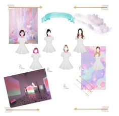White rainbow- new comback by yaseumin on Polyvore featuring polyvore, ljepota and Alex Perry