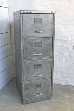 Vintage 1970s Stripped Steel Four Drawer Filing Cabinet By Inspirit |  Notonthehighstreet.com