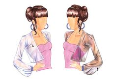How to draw chiffon and sheer fabric in fashion design sketches