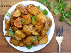 These Chili Roasted Potatoes make a great side for breakfast OR dinner, and can be topped with anything that is good on chili! Step by step photos.
