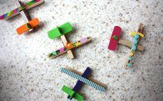 basteln mit wäscheklammern diy ideen deko ideen selber machen flugzeuge
