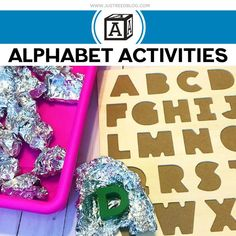 Looking for hands on alphabet activities for your preschool or kindergarten classroom? Ditch the written alphabet worksheets and try these hands on alphabet tasks instead. Fine Motor Activities For Kids, Preschool Lesson Plans, Kindergarten Lessons, Preschool Learning Activities, Preschool Curriculum, Kindergarten Classroom, Kindergarten Reading, Homeschooling, Teaching Ideas