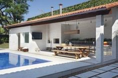 projetos de edicula com piscina para casa de campo