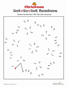 Looking for a way to help your child practice counting this Christmas break that's more engaging than a number line? Try a numbered dot-to-dot!