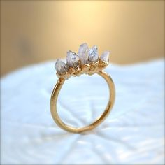 Amethyst Spike Gold Ring