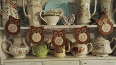 In the hoop owl bunting